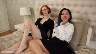 Plan cul interracial entre ces belles filles lesbiennes qui veulent absolument assouvir leurs envies de baise : un léchage de chatte qui te fera mouiller !